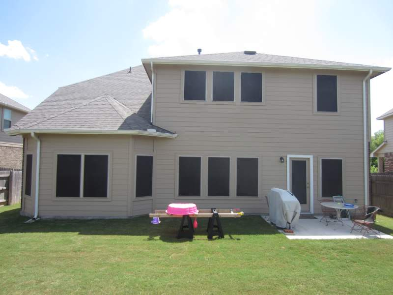 This Pflugerville TX Home Is Wearing Our 90 Solar Screens Even On The Back